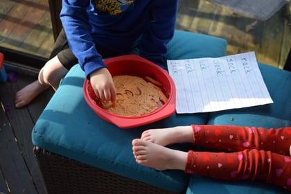 Kid Writing Hummus